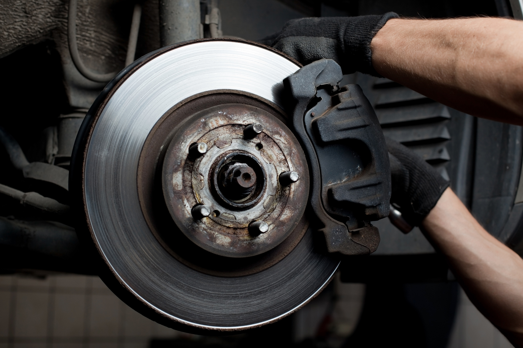 a car part being removed